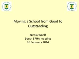 Moving a School from Good to Outstanding