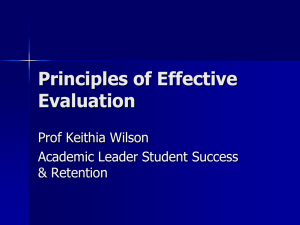 Kirkpatrick Evaluation Model ( PPT 276k)