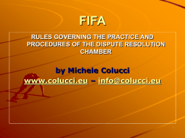 FIFA Regulations for the Transfer and Status of