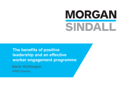 The benefits of an effective worker engagement