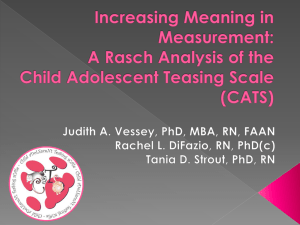 Increasing Meaning in Measurement: A Rasch Analysis of the Child