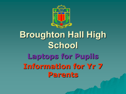 School Name - Broughton Hall High School