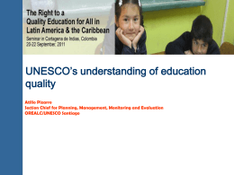 UNESCO`s understanding of education quality