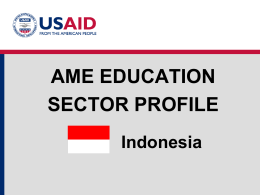 Education Sector Profile- Indonesia