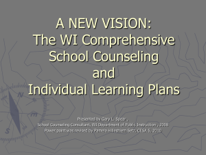School Counseling, Plans of Study, and Individual Learning Plans