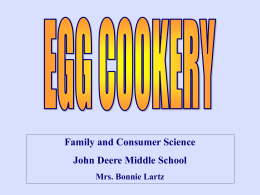 Egg Cookery Presentation