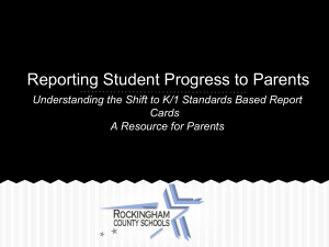 Reporting Student Progress to Parents