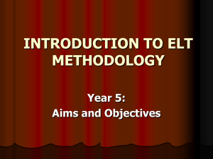 introduction to elt methodology - Emmy Nadia : A Teacher E