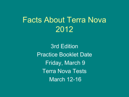 Facts About The Terra Nova - Menwith Hill Elementary/High School