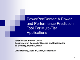 PowerPerfCenter: A Power and Performance Prediction