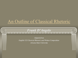 An Outline of Classical Rhetoric - Missouri Western State University