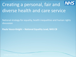 Equality Presentation - National Council for Palliative Care