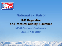 F12NSAA_EMS_medical_QA_presentation_Fall_Workshops_2012