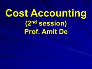 BASIC CONCEPT OF COST ACCOUNTING: