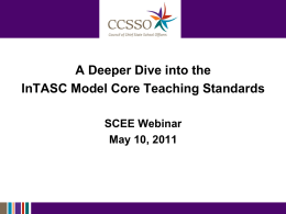 CCSSO_PowerPoint - CCSSO State Consortium on Educator