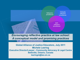 Reflective Practice - Global Alliance for Justice Education