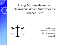 Using Multimedia in the Classroom: Which Side