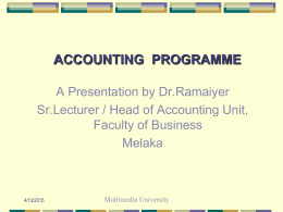 Accounting - Faculty of Business