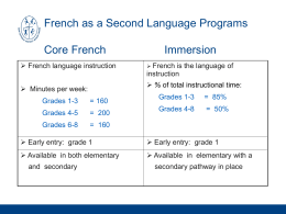 french immersion info
