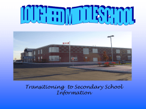 Transitioning to Secondary School Information