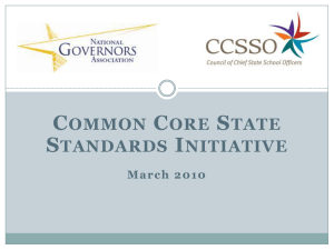 March 2010 - Common Core State Standards