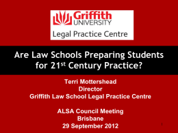 Law Schools and 21st Century Practice