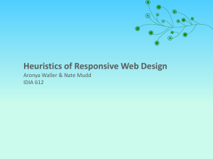 Heuristics of Responsive Design