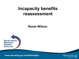 Incapacity benefits reassessment