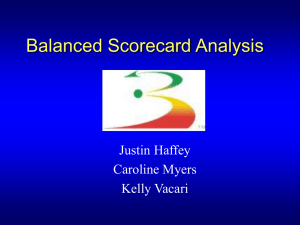 Balanced Scorecard Analysis