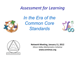 Early Assessment - Silicon Valley Mathematics Initiative
