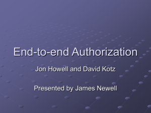 End-to-end Authorization