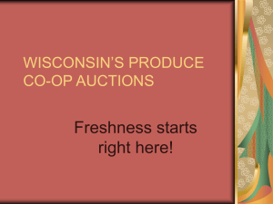 Wisconsin`s Produce Auctions
