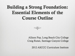 Building a Strong Foundation: Essential Elements of the