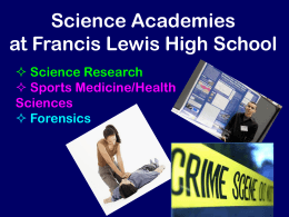 Science Academies - Francis Lewis High School