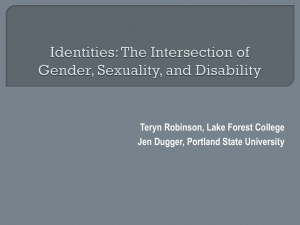 Identities: The Intersection of Gender, Sexuality, and