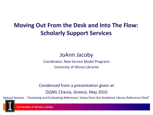 Scholarly Support Services