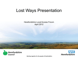 LAF lost ways - Herefordshire Council