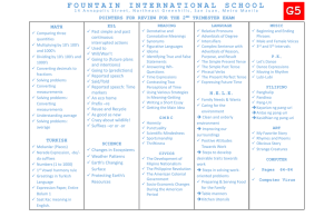 Grade5 - Fountain International School