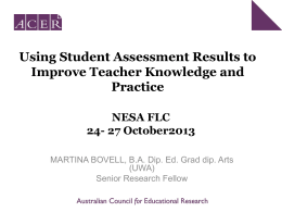 Using Student Assessment Results to Improve Teacher
