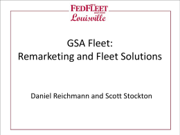 GSA Motor Vehicle Management: Acquisition & Fleet Management