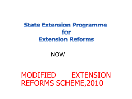 State Extension Programme for Extension Reforms