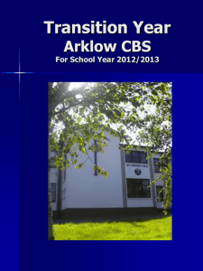 Transition Year Arklow CBS