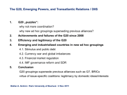 The G20 – Emerging Powers and Transatlantic Relations