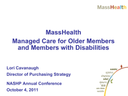 Integrated Care - NASHP Conference