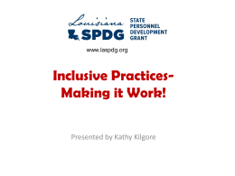 Inclusive Practices – Making It Work!