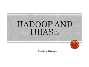 Hadoop-HBase-Tutorial - CSE Labs User Home Pages