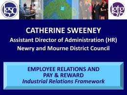Employee Relations and Pay & Reward