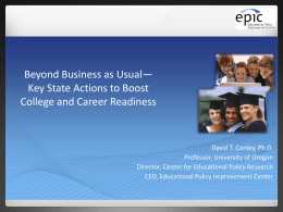 College and Career Ready - Education Commission of the States