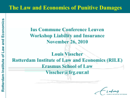 The law and economics of punitive damages in tort law