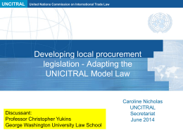 The challenges of implementing Procurement Reforms by Caroline